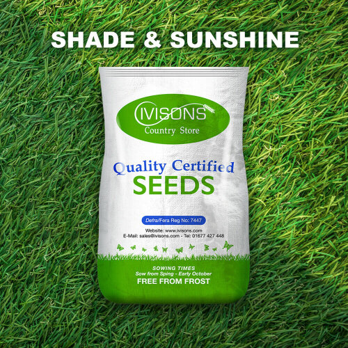 Ivisons Shaded Area and Sunshine Lawn Grass Seed