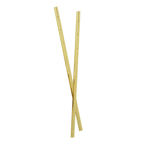 Gold Foiled Paper Party Straws Pack of 25 - Christmas Party Wedding
