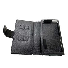 TUFF LUV Faux Leather Case Cover for Fiio M11 / M11 Pro - Black
