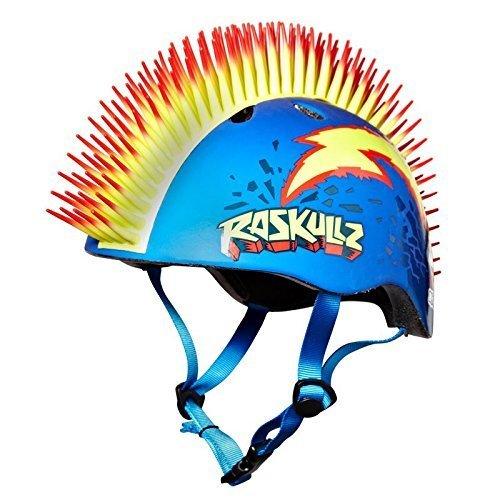 RazkullzBolt Hawk Kids Scooter Skateboard Bike Helmet EPS 50 to 54cm
