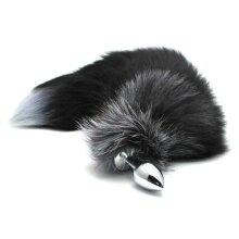 Badger Tail Solid Steel Butt Plug 35cm Long