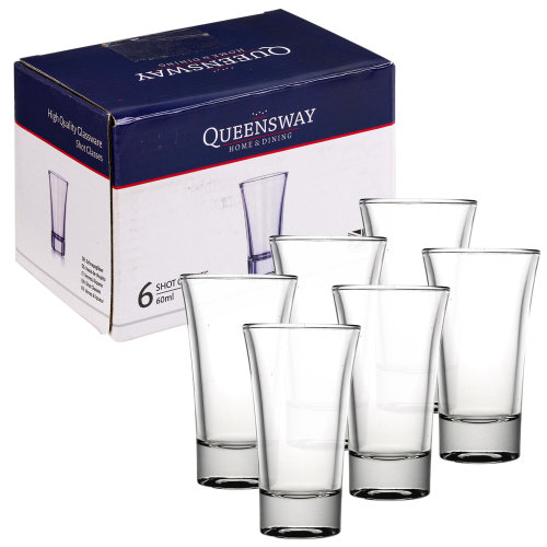 Set Of 6/12 60ml Shot Glasses Drinking Bar Party