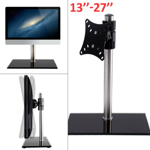 13-27'' Single Computer Monitors Stand Arm Mount Desk Screen LED TV Bracket UK