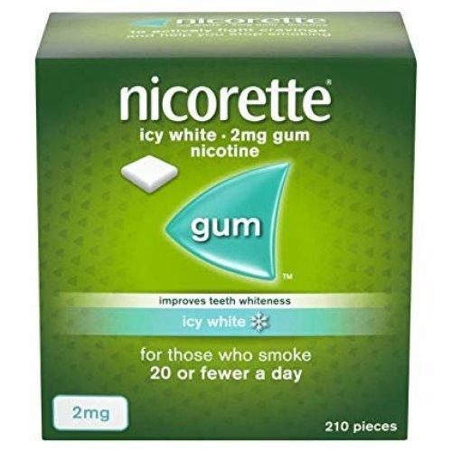 Nicorette Icy White Nicotine Whitening Gum 2mg 210 Pieces