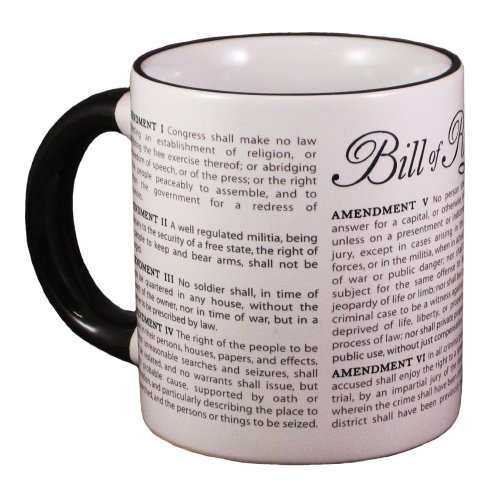 Mug - UPG - Disappearing Civil Liberties - Bill of RightsNew Coffee Cup 236