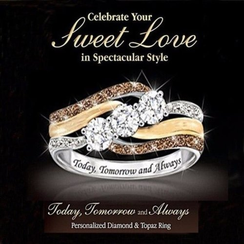 """(8) Women's  Ring  With """"Today, Tomorrow and Always"""""""