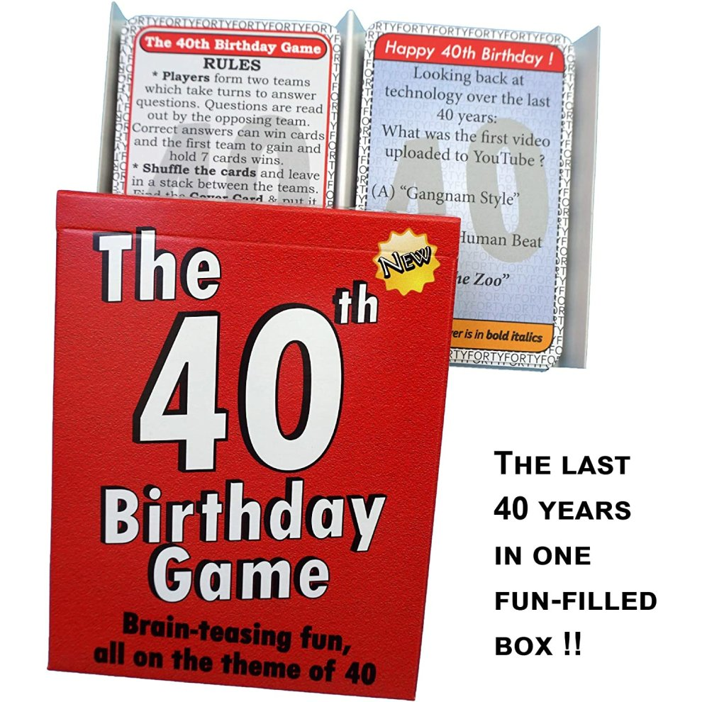 amusing little gift or present idea for anyone turning The 40th Birthday Game