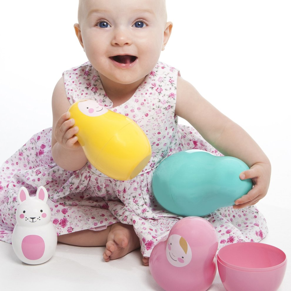 Nesting Babies with Chiming Bo Bunny Russian Dolls Safe for Babies and Toddlers