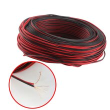 100m Speaker Cable Red Black Twin Loudspeaker Wire Car Home Audio Hifi 2x0.5mm