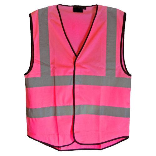 Hot Pink Hi Visibility Reflective Vest 6 Sizes