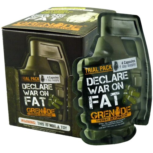 Grenade Thermo Detonator Weight Management Supplement Trial Packs, 12 x 4 capsules