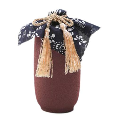 2PCS Ceramic Wine Bottle Creative Wine Jar Flagon Wine Flask Decanter Carafe-A20