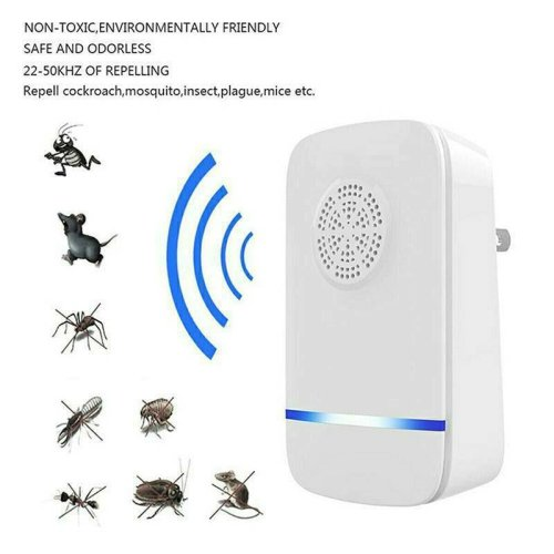 Electronic Ultrasonic Insect Pest Reject Repeller Killer Anti Mosquito Bug