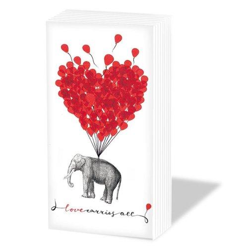 Love Carries All - Novelty Paper Tissues Handbag / Pocket Sized