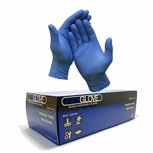 1 Box of 100 x Blue Disposable Nitrile Gloves Size Small