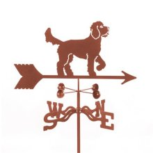 Golden Doodle Dog Weathervane with Four Sided Mount