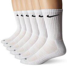 Nike Dry Cushion Crew Training Socks (6 Pair) (White/Black)