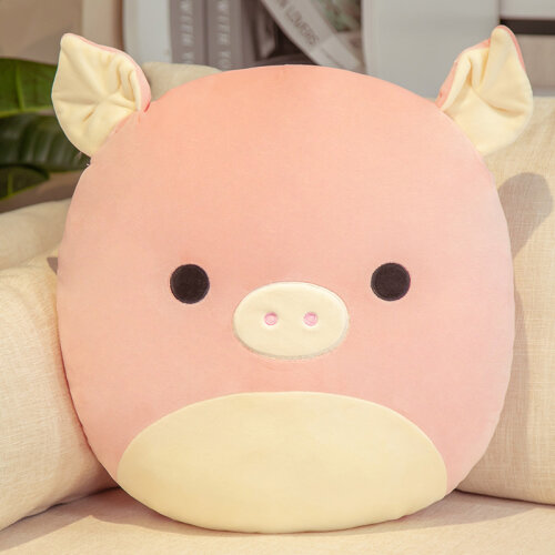 (Pink Pig, 45cm/17.7inch) Squishmallows Soft Plush Character Pillow