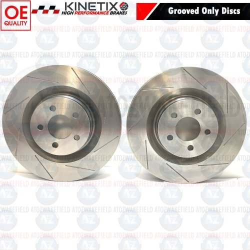 FOR CHRYSLER 300C 5.7 LX LE FRONT GROOVED PERFORMANCE BRAKE DISCS PAIR 360mm