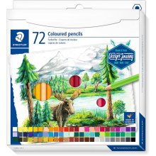 Staedtler 146C C72 Colouring Pencils Soft Lead High Pigmented Colours Classic Hexagonal Format Cardboard Case with 72 Bright Colours