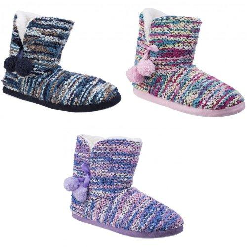 Divaz Womens/Ladies Vienna Knitted Bootsie Slippers