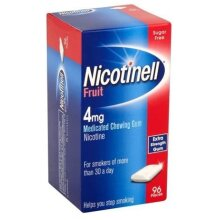 Nicotinell Nicotine Gum, Quit Smoking Aid, Fruit Flavour, 4 mg, 96 Pieces