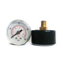 Pressure Gauge 40mm Dial 0/160 PSI & 0/10 Bar 1/8 BSPT Back Connection