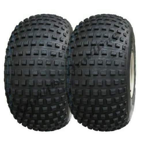 25x12.00-9 Knobby tyre ATV trailer, gator, 4 stud rim - set of 2.