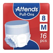 Attends Pull-Ons 8 Medium (1700ml) 16 Pack Incontinence Protection