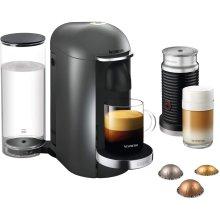 Nespresso, Pod Coffee Machine, Krups, XN902T40, Vertuo Bundle, Titanium, 1260 W