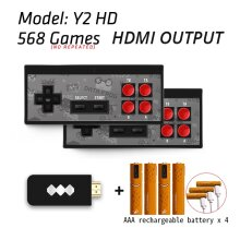 USB Wireless Handheld TV Video Game Console Build In 620 Classic 8 Bit Game