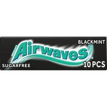 Wrigley Airwaves Black Mint Menthol Sugar Free Chewing Gum 10 Pellets (pack Of 30)