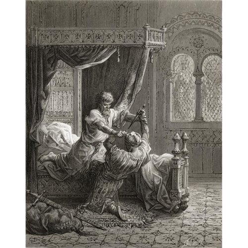 Edward I of England 1239 To 1307 Kills His Would-Be Assassin June 1272 Poster Print, Large - 26 x 34
