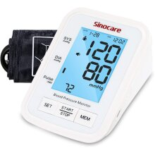 Sinocare Blood Pressure Monitor BA823 With Adjustable Cuff 22-42cm - Provide battery