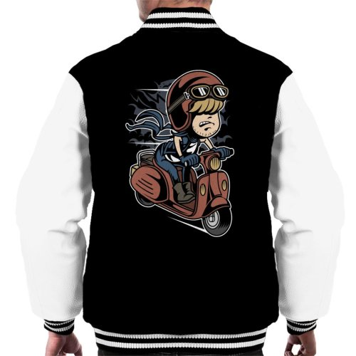 Scooter Rider Kid Men's Varsity Jacket