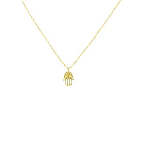 Latelita 925 Sterling Silver Pendant Hamsa Hand Fatima Necklace Rose Gold