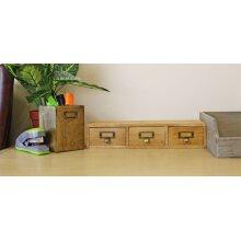 3 Drawer Single Level Small Storage Organiser Unit Trinket Drawers