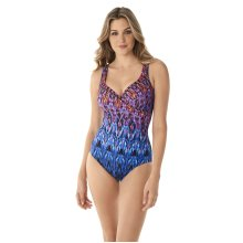 Miraclesuit 6524080-MLT Women's Vesuvio It's a Wrap Blue Multicolour Underwired Shaping Swimsuit