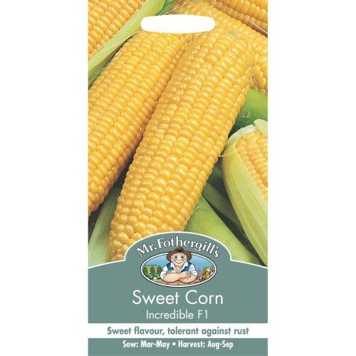 Mr Fothergills - Pictorial Packet - Vegetable - Sweet Corn Incredible F1 - 50 Seeds