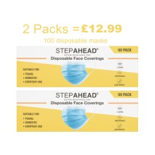2 X Step Ahead Disposable Face Covering PACKS OF 50