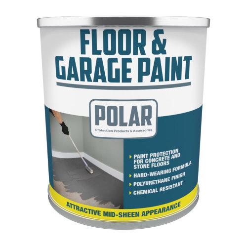 Polar 5L Floor & Garage Paint - Grey | Heavy Duty Floor Paint
