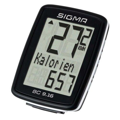 Sigma Bike Cycling Bicycle Computer Odometer Speedmeter BC 9.16 Black 9160