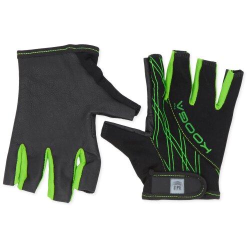 Kooga Elite Grip Glove - Black/Lime, Large
