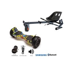 Package Hoverboard Smart Balance™ Premium Brand, Hummer Hiphop+Hoverseat suspensions,8.5 inch,Bluetooth,Samsung battery,Built-in speakers, 700W, LED