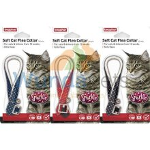 BEAPHAR SPARKLE CAT KITTEN FLEA TREATMENT COLLAR WITH BELL 3 PACK UP TO 1 YEARS PROTECTION