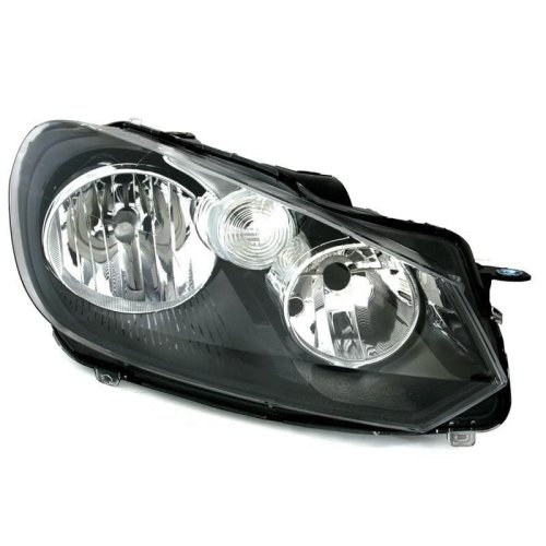 Volkswagen Golf Mk6 2009-2013 Black Headlight Headlamp Drivers Side Right