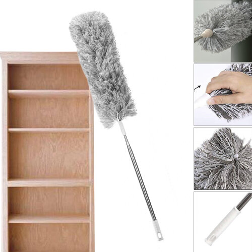 Microfibre Cleaning Feather Duster Extending Brush Extendable Brush