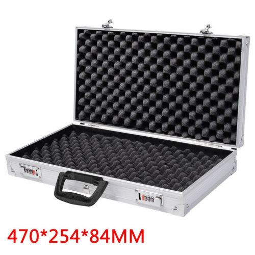 Aluminium Pistol Gun Storage Lockable Flight Case Foam Box Secured