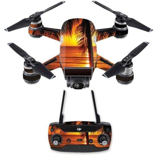 MightySkins DJSPCMB-Sunset Skin Decal Wrap for DJI Spark Mini Drone Combo Sticker - Sunset
