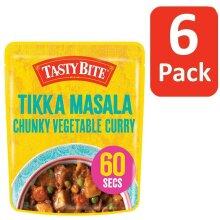 6 x TASTY BITE Tikka Masala Vegetable Curry, 285 g Case Of 6